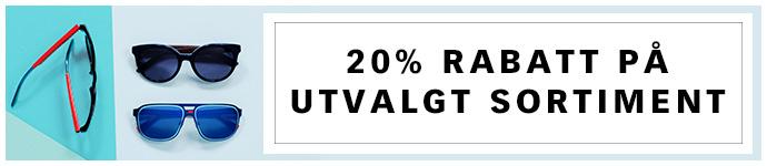 20% rabatt p� utvalgt sortiment Velg mellom v�rens t�ffeste varemerker