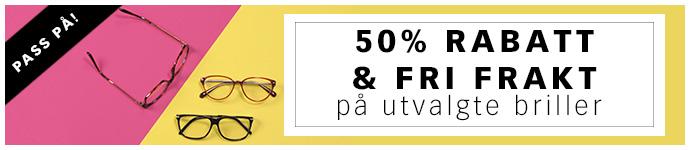 50% rabatt & fri frakt